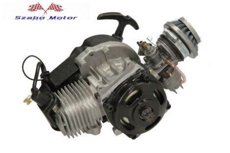 INPARTS Pocket bike komplett motorblokk 2T (centrifugális tengelykapcsoló, karburátor, filter, gyújtás)