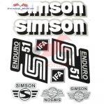 Simson komplett matrica szett S51 Enduro ezüst 22X30cm Lengyel