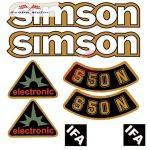 Simson komplett matrica szett S50N Elektronik zöld 17x17cm Lengyel