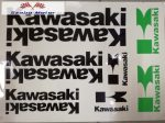 Kawasaki Matrica szett zöld fekete
