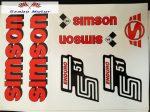 Simson komplett matrica szett S51Enduro piros