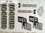 Simson komplett matrica szett S51B szürke