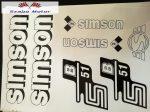 Simson komplett matrica szett S51B fehér