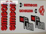 Simson komplett matrica szett S51N piros