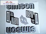 Simson komplett matrica szett S51 Enduro szürke