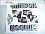 Simson komplett matrica szett S51B Ezüst