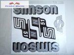 Simson komplett matrica szett S51N Ezüst