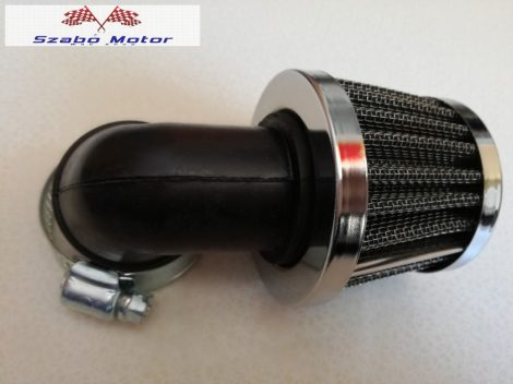 Sportlégszűrő krómozott csatlakozóméret 35 mm 90 fokos könyökkel TWN
