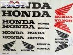 Matrica szett Honda fekete 24x34 cm