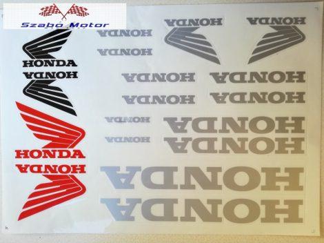 Matrica szett Honda ezüst 24x34 cm