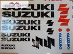 Matrica szett Suzuki fekete 24x34 cm