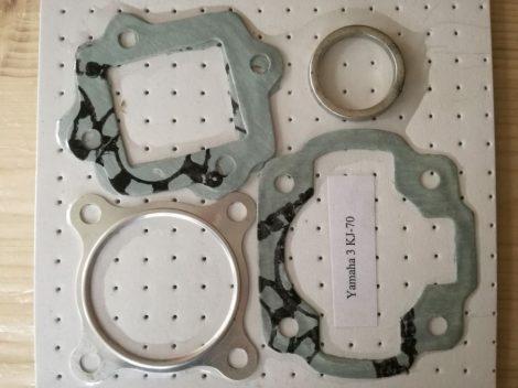 """Tömítésszett hengerhez 5-részes alumínium hengerfejtömítéssel  3kj Yamaha """"fekvő""""  Aprilia-minarelli 70ccm AC."""