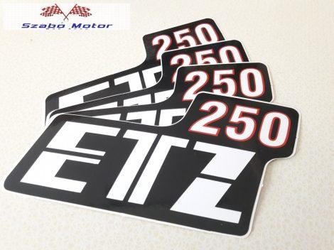 ETZ 250 Szerszámfedélfelirat párban-2db.