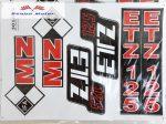 ETZ 125 komplett matrica szett 24x34 cm