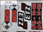 ETZ 150 komplett matrica szett 24x34 cm