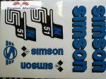 Simson komplett matrica szett S51N kék