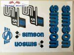 Simson komplett matrica szett S51B kék