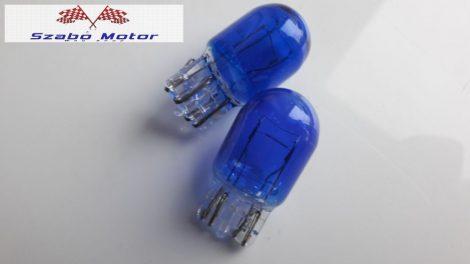 Üvegfoglalatos T20 12V 21/5W Super White (kék) izzó