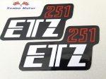 ETZ 251 Szerszámfedélfelirat párban-2db.