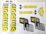 Simson komplett matrica szett S51N sárga