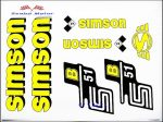 Simson komplett matrica szett S51B sárga