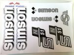 Simson komplett matrica szett S51N Ezüst fehér