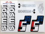 Simson komplett matrica szett S51 12Volt