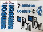 Simson komplett matrica szett S50N kék