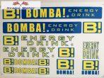 Bomba Energy Drink matrica szett 24,5x17 cm
