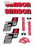 Simson komplett matrica szett S50B piros