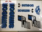 Simson komplett matrica szett S50B kék