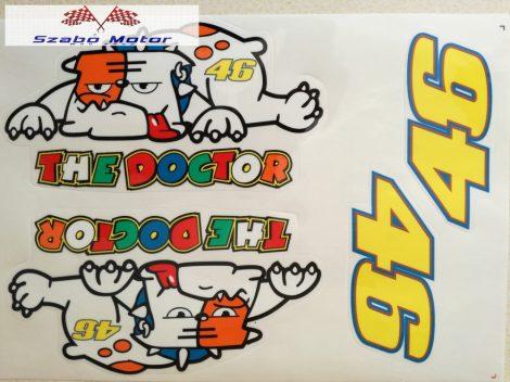 The Doctor (Bulldog) matrica készlet 24,5x17 cm